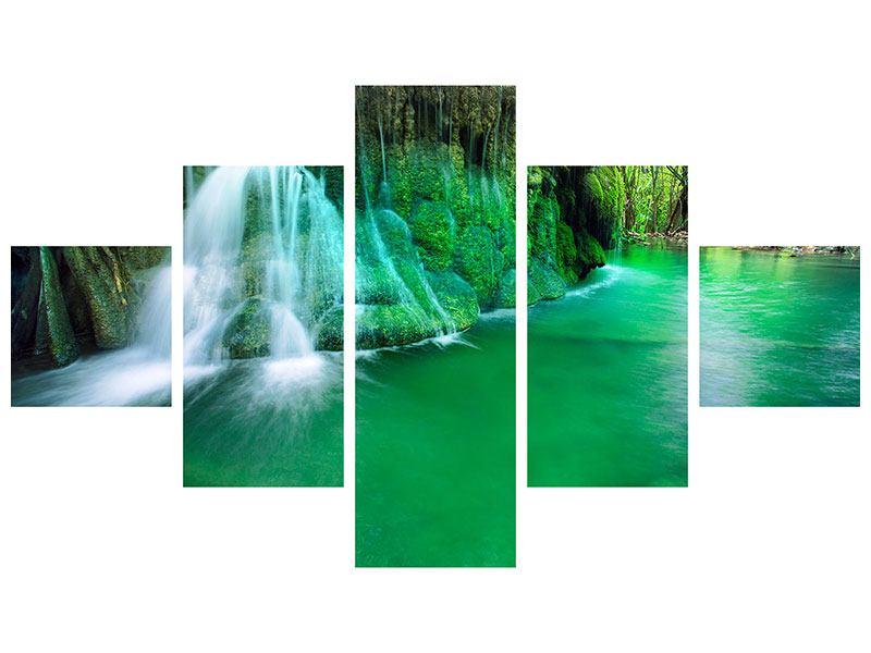 Acrylglasbild 5-teilig Im Paradies