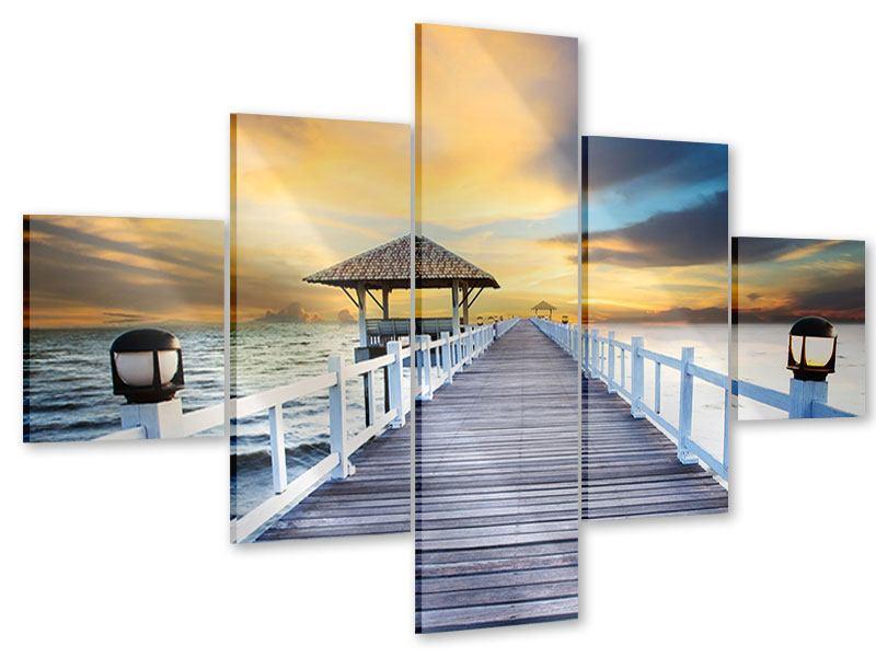 Acrylglasbild 5-teilig Die Brücke ins Meer