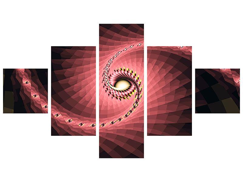 Acrylglasbild 5-teilig Abstrakte Windungen