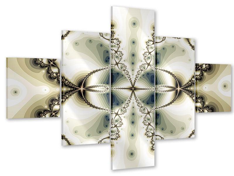 Acrylglasbild 5-teilig Abstrakter Schmetterling