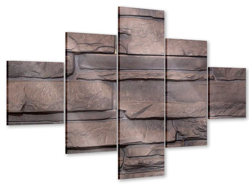 Acrylglasbild 5-teilig Luxusmauer