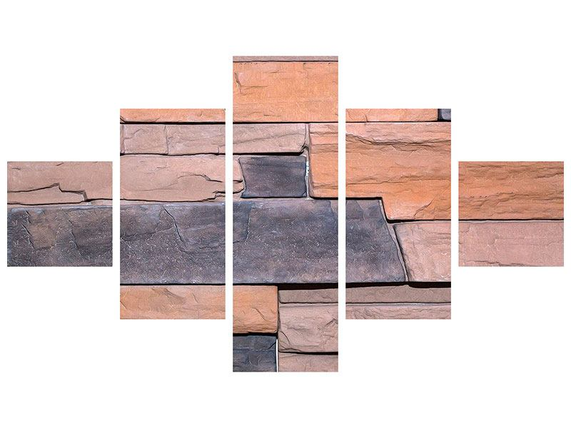 Acrylglasbild 5-teilig Wall