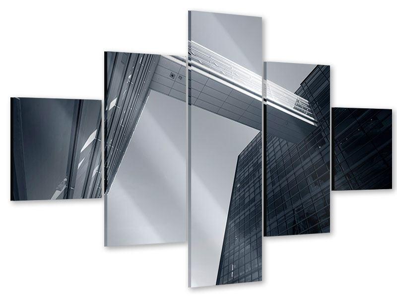 Acrylglasbild 5-teilig Der schwarze Diamant Kopenhagens