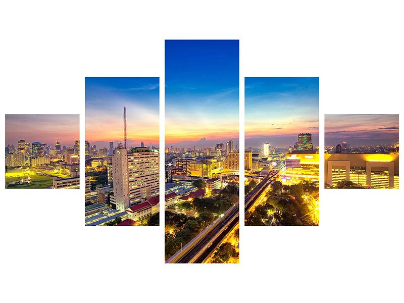 Acrylglasbild 5-teilig Bangkok