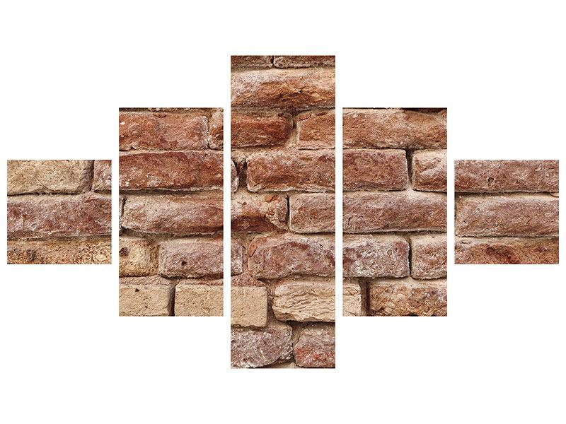 Acrylglasbild 5-teilig Loft-Mauer