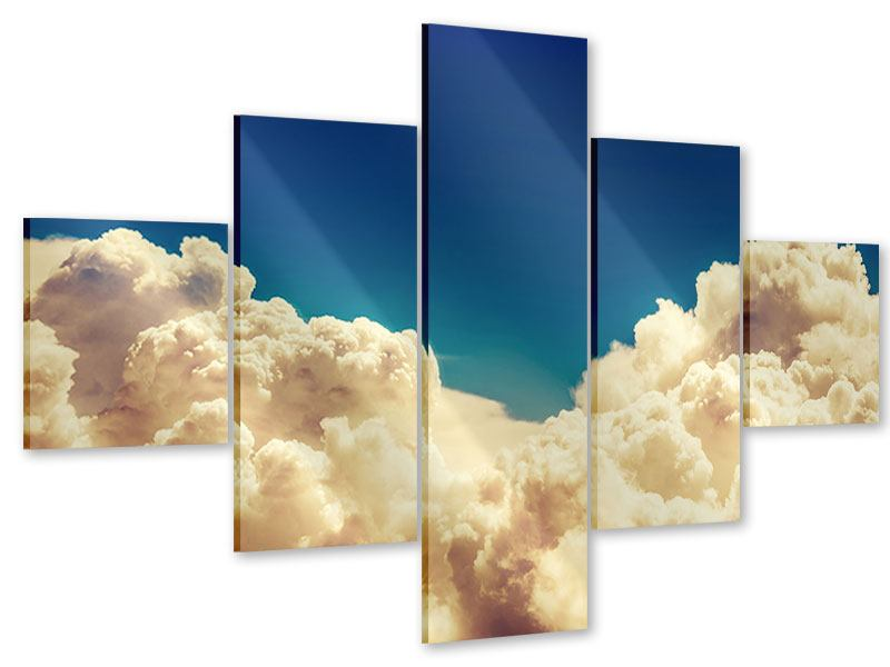 Acrylglasbild 5-teilig Himmelswolken