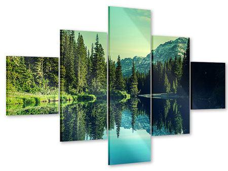 Acrylglasbild 5-teilig Die Musik der Stille in den Bergen