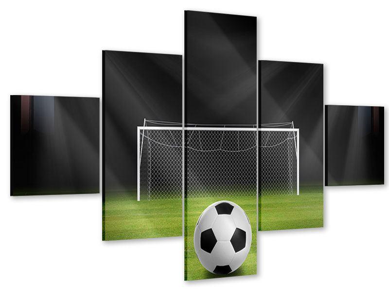 Acrylglasbild 5-teilig Fussball-Tor