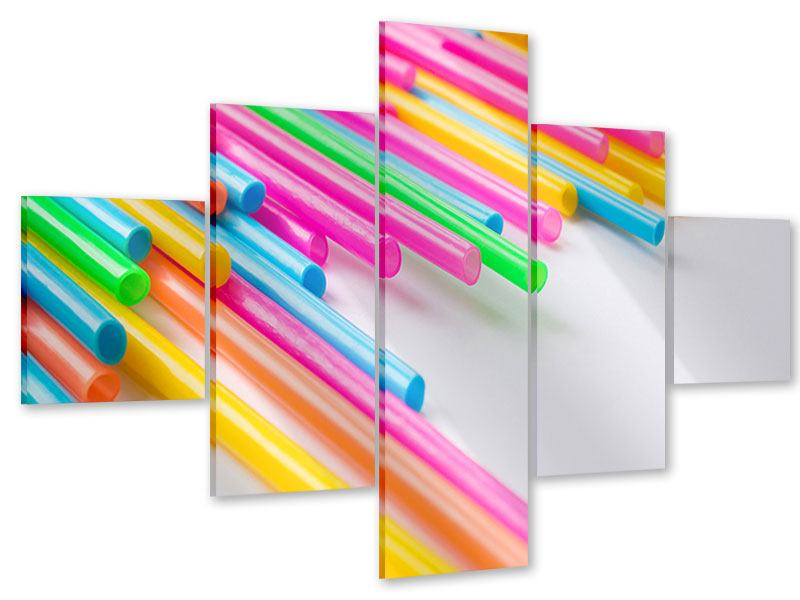 Acrylglasbild 5-teilig Pop Art
