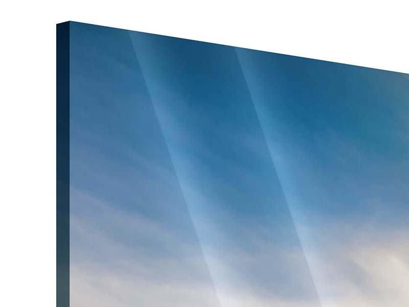 Acrylglasbild 5-teilig Über den verschneiten Gipfeln