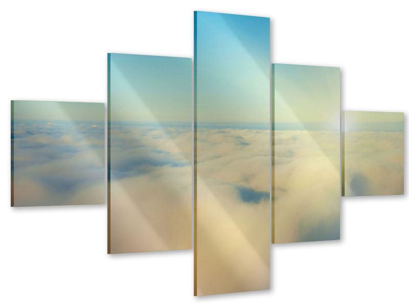 Acrylglasbild 5-teilig Dämmerung über den Wolken