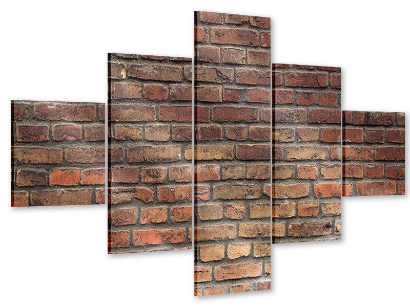 Acrylglasbild 5-teilig Brick Wall