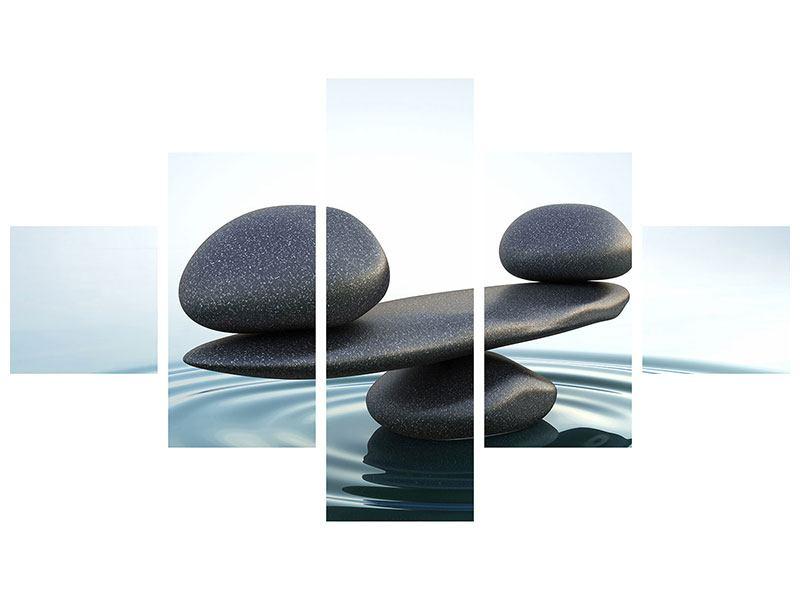 Acrylglasbild 5-teilig Steinbalance