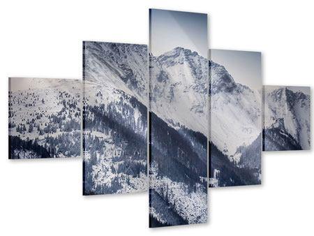 Acrylglasbild 5-teilig Die Berge der Schweiz