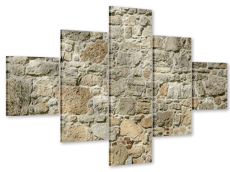 Acrylglasbild 5-teilig Naturmauer