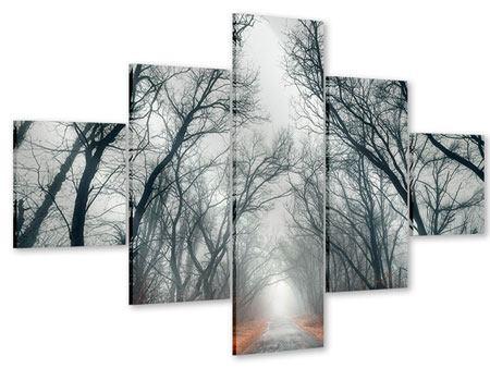 Acrylglasbild 5-teilig Mysteriöse Stimmung im Wald