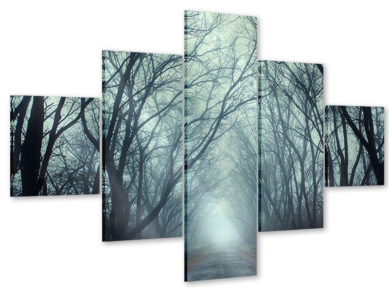 Acrylglasbild 5-teilig Nebelwald