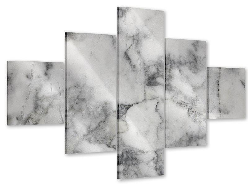 Acrylglasbild 5-teilig Klassischer Marmor
