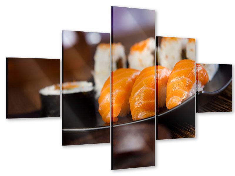 Acrylglasbild 5-teilig Sushi-Gericht