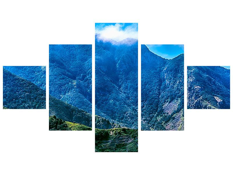Acrylglasbild 5-teilig Die Berglandschaft