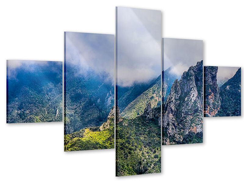 Acrylglasbild 5-teilig Der stille Berg