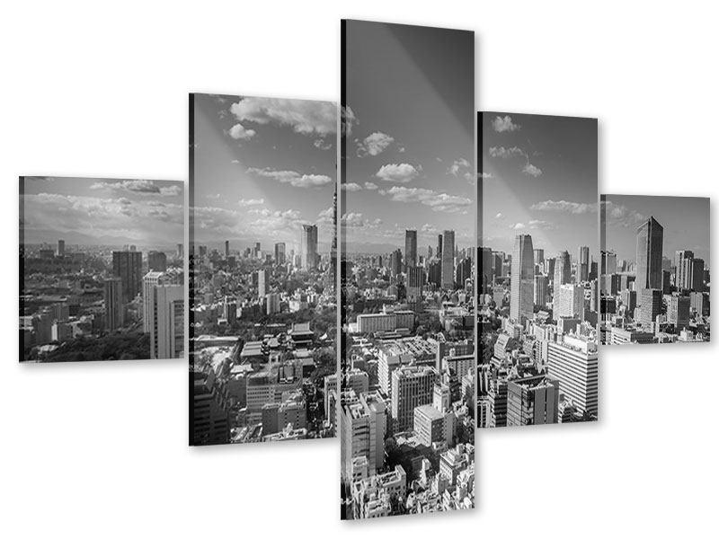 Acrylglasbild 5-teilig Tokio