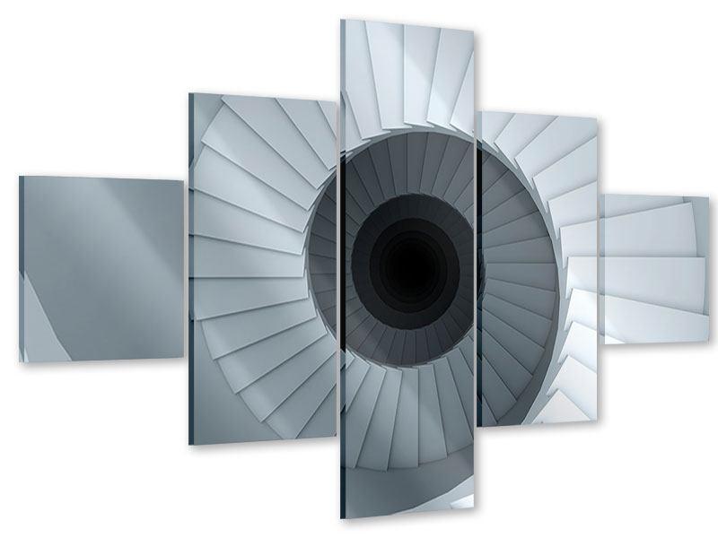 Acrylglasbild 5-teilig 3D Wendeltreppe