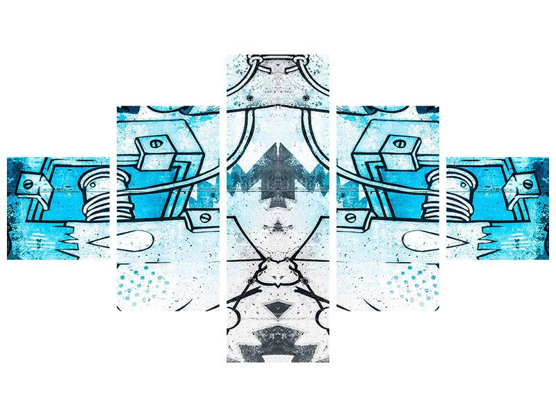Acrylglasbild 5-teilig Graffiti