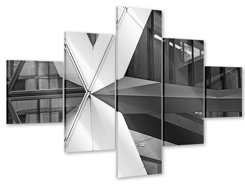 Acrylglasbild 5-teilig Teil eines Wolkenkratzers