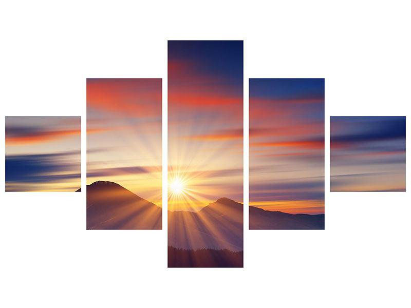 Acrylglasbild 5-teilig Märchenhafte Landschaft