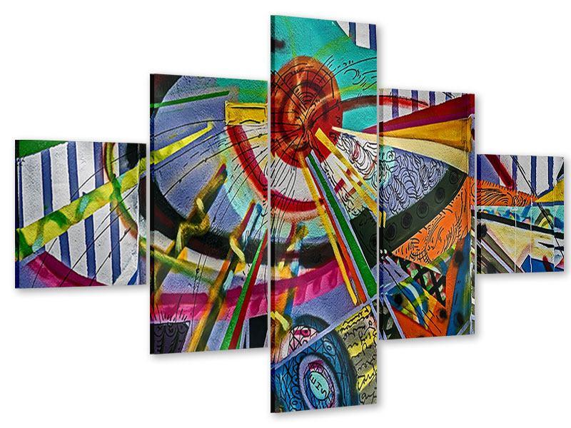 Acrylglasbild 5-teilig Künstlerisches Graffiti