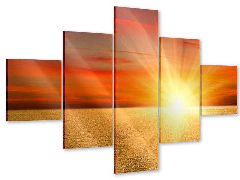 Acrylglasbild 5-teilig Der Sonnenuntergang