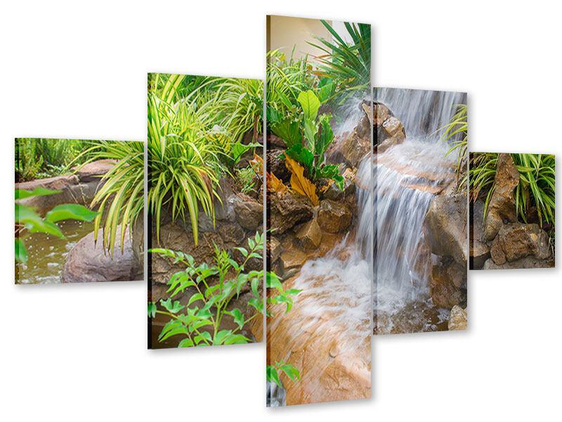 Acrylglasbild 5-teilig Paradiesgarten