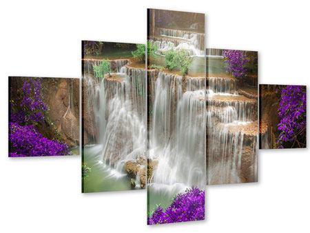 Acrylglasbild 5-teilig Garten Eden