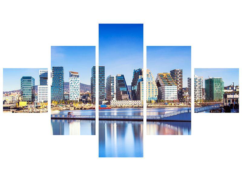Acrylglasbild 5-teilig Skyline Oslo