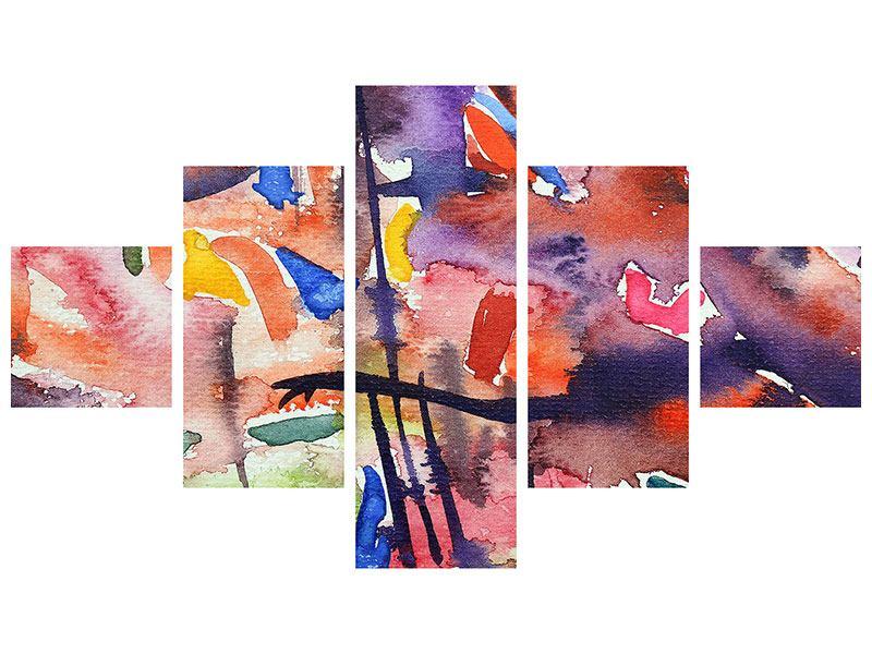 Acrylglasbild 5-teilig Aquarell