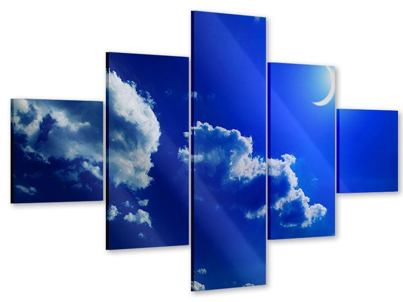 Acrylglasbild 5-teilig Der Mond