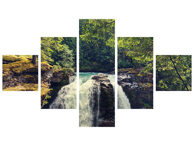 Acrylglasbild 5-teilig Flussströmung