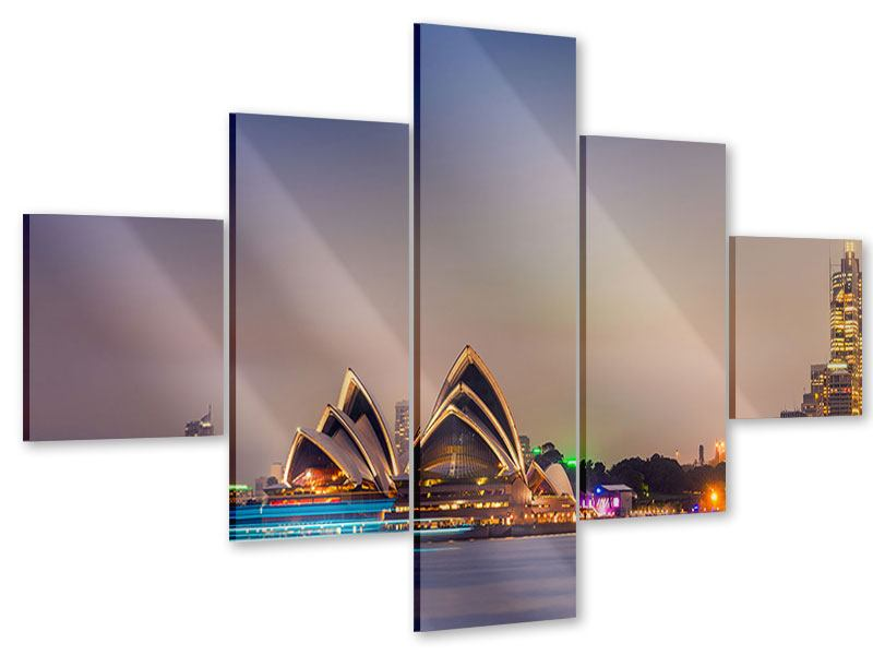 Acrylglasbild 5-teilig Opera House