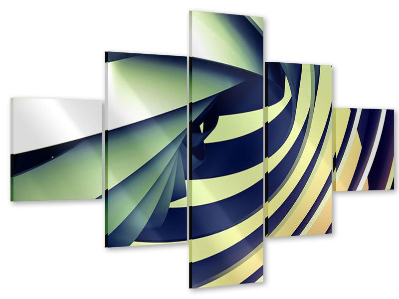 Acrylglasbild 5-teilig Abstrakte Perspektiven