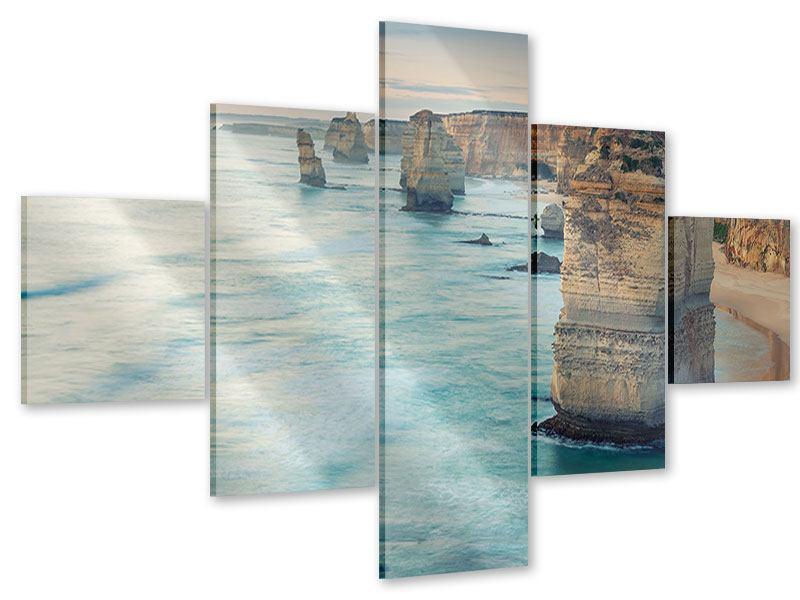 Acrylglasbild 5-teilig Felsklippen