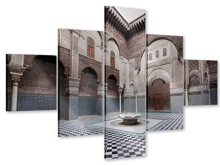 Acrylglasbild 5-teilig Orientalischer Hinterhof