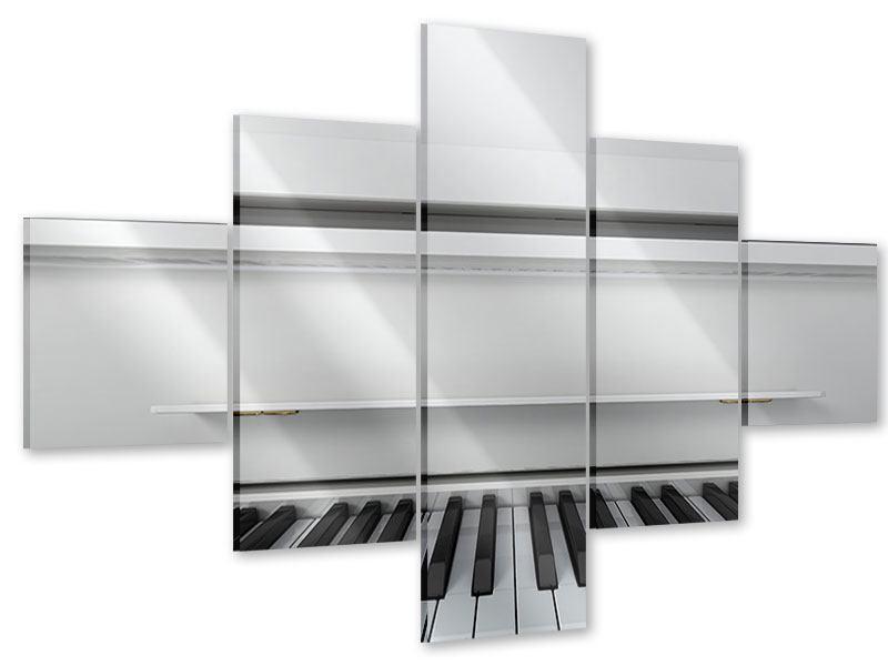 Acrylglasbild 5-teilig Weisser Flügel