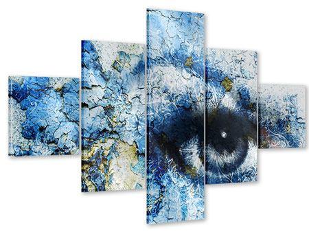 Acrylglasbild 5-teilig Augenblick