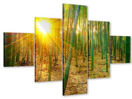 Acrylglasbild 5-teilig Bambusse