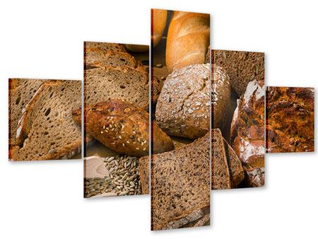 Acrylglasbild 5-teilig Brotarten