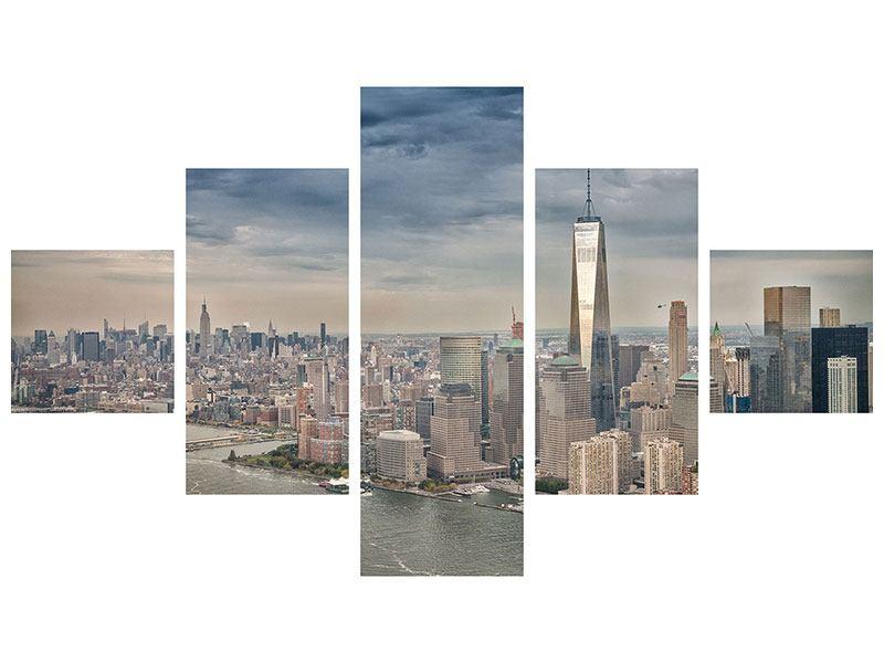 Acrylglasbild 5-teilig Skyline Manhattan