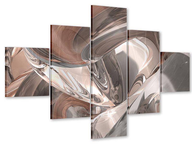 Acrylglasbild 5-teilig Abstraktes Glasfliessen