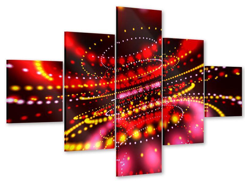 Acrylglasbild 5-teilig Abstraktes Lichtspiel