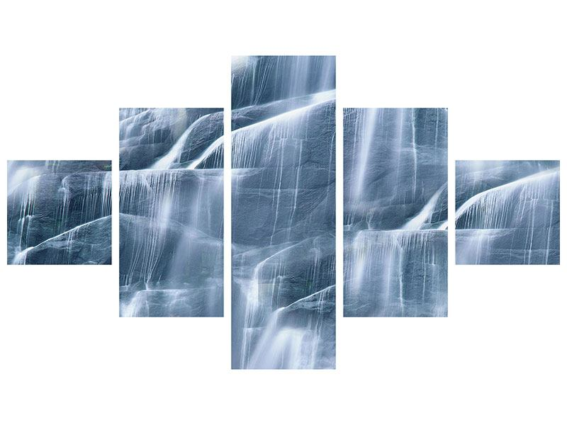 Acrylglasbild 5-teilig Grossartiger Wasserfall